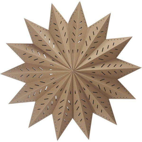 julstjärna alfa i brunt papper 60 cm