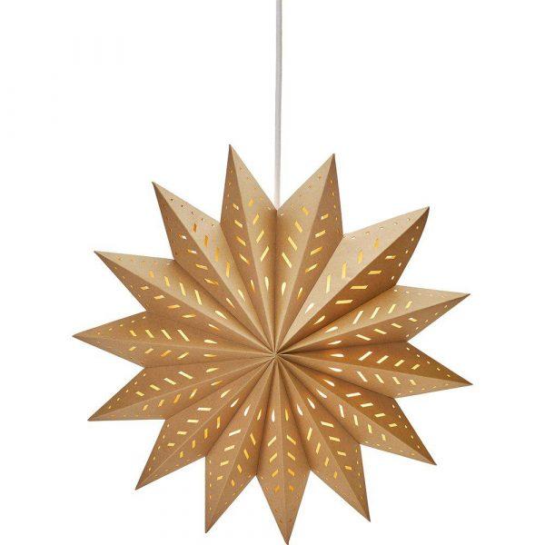 julstjärna brun 50 cm