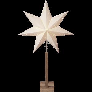Julstjärna på träfot 100 cm