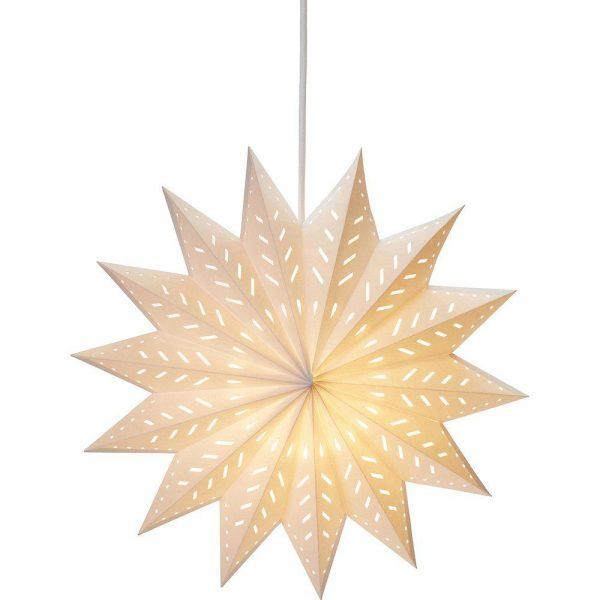julstjärna alfa i vitt papper 50 cm
