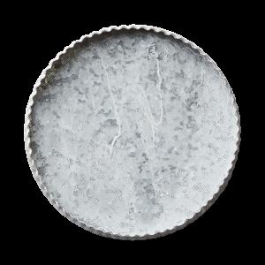 Ljusfat i kalkgrå metall