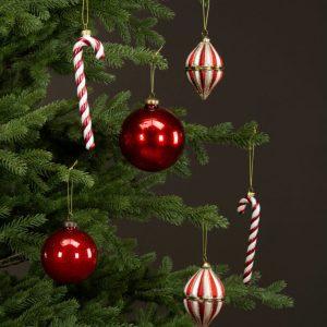 Polkagris hänge julgranspynt
